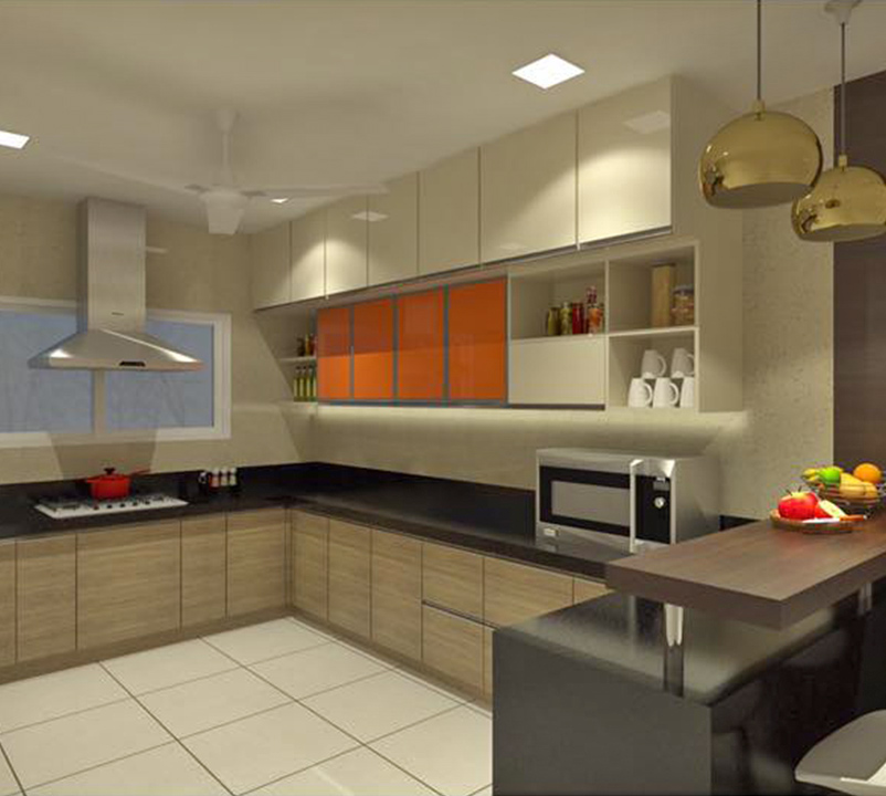 Interior Design Hall And Kitchen: 3d Kitchen Interior Design